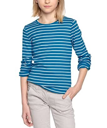 ESPRIT Mädchen Langarmshirt, gestreift O02E98, Gr. 146 (S), Blau (428 BLUE BAY)