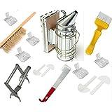 Beekeeping Tools Kit -10 Pcs. -Bee Hive Smoker, Beekeeping Accessory -Bee Keeping Tool