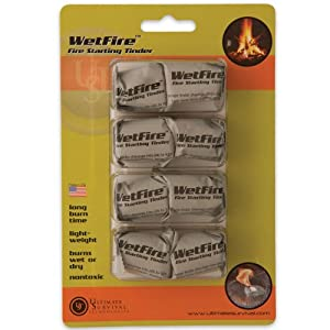 Ultimate Survival Technologies WetFire Tinder Tube of 8 Cubes