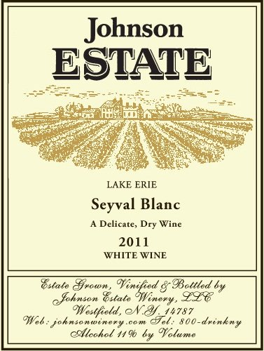 2011 Johnson Estate Lake Erie Seyval Blanc 750 Ml