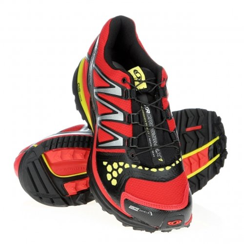 Salomon Men's XR Crossmax Neutral CS Running Shoe,Bright Red/Black/Canary Yellow,9 M US