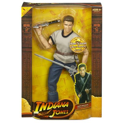 Picture of Hasbro Indiana Jones and the Kingdom of the Crystal Skull Mutt Williams Action Figure with Sword (B001DCN8WG) (Hasbro Action Figures)