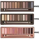 Onlylove 3pc/set Nk 1 2 3 Eyeshadow Nake 12 Colors Palette Eye Shadow Urban Nude Makeup Brush