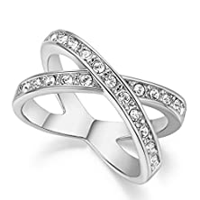 buy Bbx Jewelry Platinum Plating Womens Pave X Ring