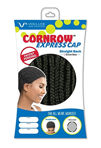 VIVICA A. FOX CORNROW EXPRESS CAP - STRAIGHT BACK WITH SILICON STRIP - MEDIUM (Corn Rows Wig compare prices)