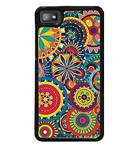 Printvisa Multicoloured Ethenic Pattern Back Case Cover for Blackberry Z10