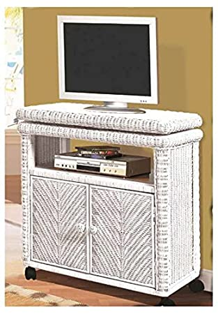 Low TV Stand in White