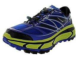 Hoka One One Men\'s M Mafate Speed Blue/Lime/Black Running Shoe 12 Men US