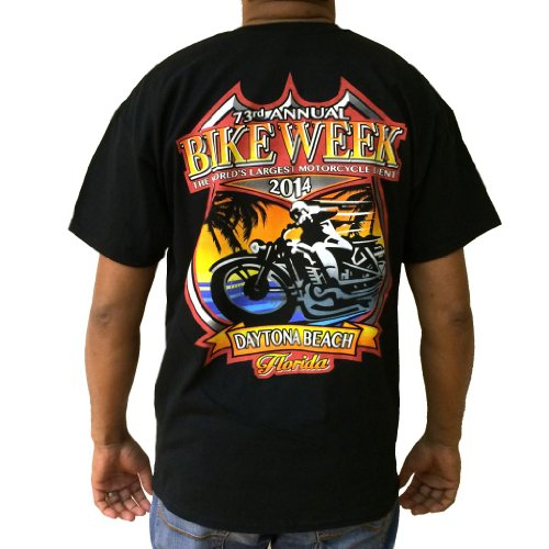 Biker Life USA Men's Official 2014 Daytona Beach Bike Week Tee, S, Black