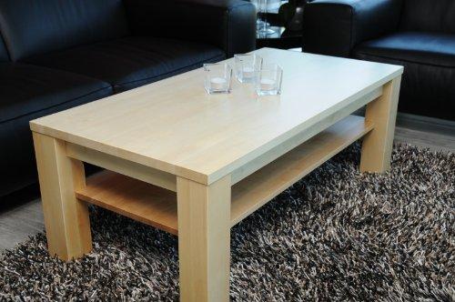 wohnzimmer ideen testen couchtisch 90 x 60 cm mit ablage ahorn echtholz massivholz h he 48 cm. Black Bedroom Furniture Sets. Home Design Ideas