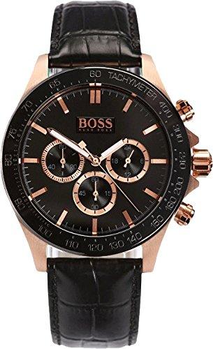 Hugo Boss Black - 1513218 - - Montre Homme- Bracelet en Cuir
