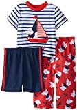 Little Me Baby Boys' Nautical Dog 3 Piece Pajamas