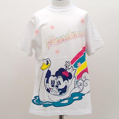 Tシャツ ホワイト ランデブー ミッキー&ミニー (ミッキーマウス/ミニーマウス) ディズニー