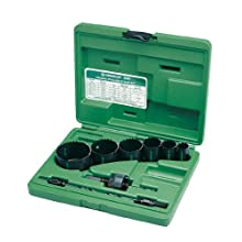 Greenlee 830 Bi-Metal Hole Saw Kit, Conduit Sizes 7/8&#034; to 2-1/2&#034;