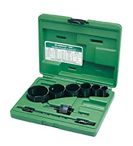 "Greenlee 830 Bi-Metal Hole Saw Kit, Conduit Sizes 7/8"" to 2-1/2"""