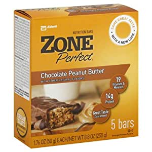 Zone perfect nutrition bars chocolate peanut butter 8 8 for Food bar t zone