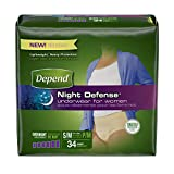 Depend Night Defense Incontinence Overnight Underwear for Women, S/M, 34 count