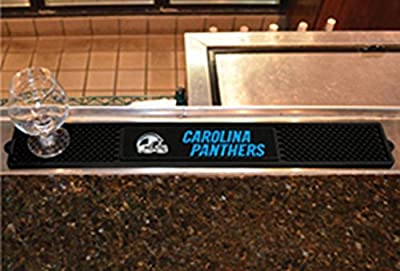 FANMATS - 13980 - NFL - Carolina Panthers Drink Mat 3.25x24