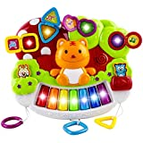 WolVol Baby Piano Activity Center with Beautiful Light Shows and Various Music Tunes, Hanging in the Crib
