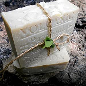 Volcanic Ash Natural Bar Soap with Cocoa Butter and Patchouli- Great for Eczema, Psoriasis or Acne!