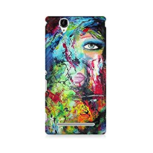 Mobicture Artistic Girl Face Premium Printed Case For Sony Xperia T2