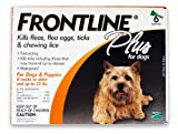Merial Frontline Plus Flea and Tick Control for Dogs and Puppies 8 weeks or older and up to 22lbs, 6-Pack