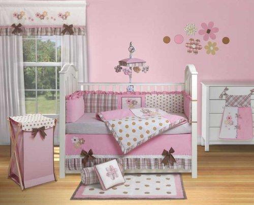 Banana fish baby grace 9pc crib bedding set girl pink for Fishing crib bedding
