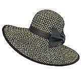 Luxury Divas Weaved Wide Brim Floppy Hat With Bow
