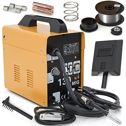 ARKSEN© MIG-130 Gas-Less Flux Core Wire Welder Welding Machine Automatic Feed Unit DIY