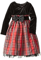 Good Lad Little Girls' Taffeta Plaid Dress