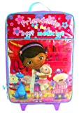 Disney DOC Mcstuffins Girls Large Pilot Case - Rolling Luggage Travel Backpack