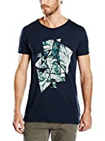 Scotch & Soda Camiseta Manga Corta (Antracita / Azul Noche)