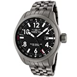 Invicta Men's 0190 Force Collection Black Dial Matte Grey Stainless Steel Watch