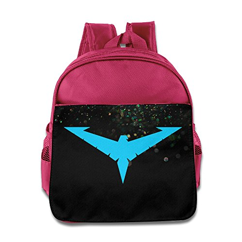 [Custom Nightwing Logo Funny Boys And Girls School Bag Backpack For 1-6 Years Old Pink] (Custom Costumes Makers Los Angeles)