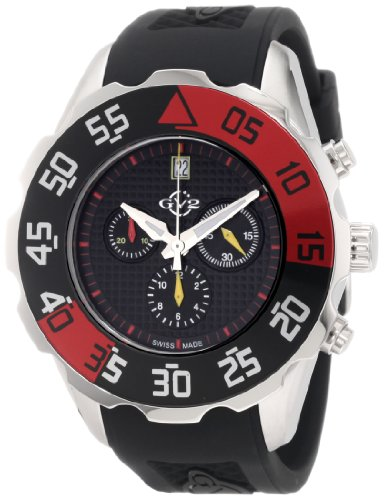 GV2 by Gevril Men's 3003R Parachute Chronograph Rubber Date Watch