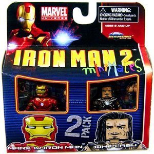 Picture of Diamond Select Marvel Minimates Series 35 Mini Figure 2Pack Iron Man Mark IV & Whiplash (B003HEXCXI) (Iron Man Action Figures)