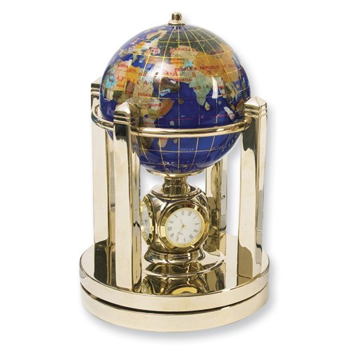 Lapis 110mm Gemstone Globe Desk Clock