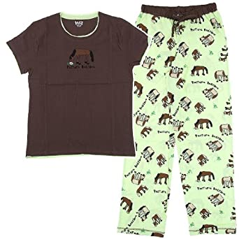 Pasture Bedtime Horse Cotton Pajamas for Women XS