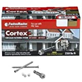 FastenMaster Cortex Concealed Fastening System Traditional Azek Trim 250 lin ft - 375 Screws, 400 Fasteners, 3 Tools