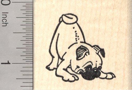 Pug Dog Rubber Stamp