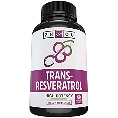 Resveratrol Supplement for Maximum Anti-Aging Support, Immune System Boost & Heart Health - Standardized to 50% Trans Resveratrol - Powerful Antioxidant Benefits - 60 Vegetarian Capsules