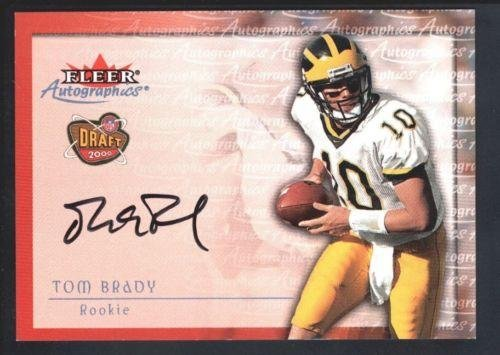 Tom Brady 2000 Fleer Tradition Rc Rookie Autographics Autograph Sp Auto Mint - NFL Slabbed Autographed Cards