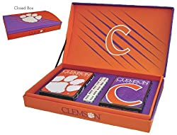 Clemson Tigers NCAA Gift Box Set (playing Cards & Dice)