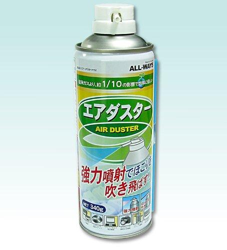 Contenido de aire comprimido de todas maneras de aproximadamente 380 ml (340 g) con una boquilla larga usando gas 'HFC-152 veces una inyección estimada a temperatura ambiente 25 grados Celcius bajo segunda inyección 500 veces AD152-AW380