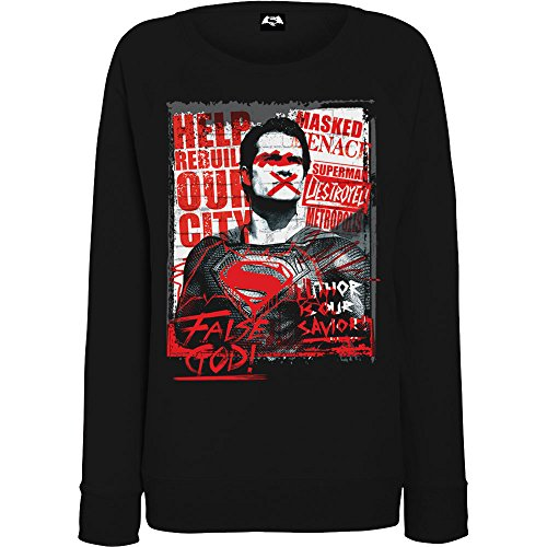 DC Comics Donna Batman v Superman False God Felpa XX-Large Nero