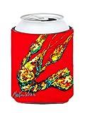 Caroline's Treasures MW1034CC Crawfish Knuckles Can or Bottle Koozie Hugger, Multicolor