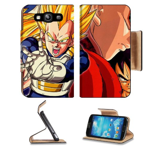 Dragon Ball Z Vegeta Super Saiyan Samsung Galaxy S3 I9300 Flip Cover Case With Card Holder Customized Made To Order Support Ready Premium Deluxe Pu Leather 5 Inch (132Mm) X 2 11/16 Inch (68Mm) X 9/16 Inch (14Mm) Liil S Iii S 3 Professional Cases Accessori
