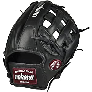 Nokona BL-1175H-Blk 11.75 Pro Elite Bloodline H Web Baseball Glove (Right Handed Throw)