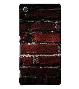 PrintVisa Brick Wall Design 3D Hard Polycarbonate Designer Back Case Cover for Sony Xperia Z4