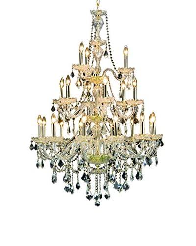 Crystal Lighting Giselle 21-Light Chandelier, Gold